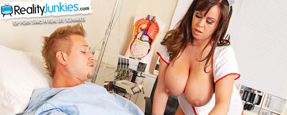 "Brandi Talore and Bill Baily, from ""Big Breast Nurses #5"""