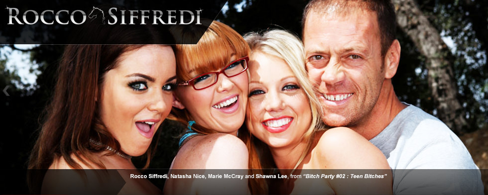 "Rocco Siffredi, Natasha Nice, Marie McCray and Shawna Lenee from ""Bitch party #02: Teen Bitches"""