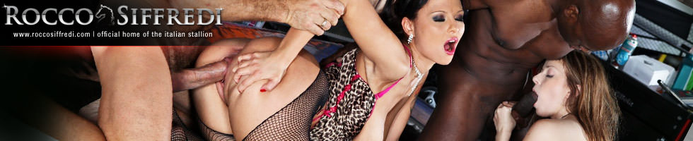 "Rocco Siffredi, Dominno and Abigaile Johnson from ""Rocco's Abbondanza: Big Natural"""